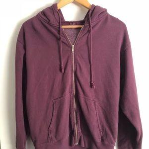 Brandy Melville Purple Zip Up Hoodie